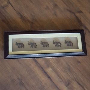 Elephant Walk - Cherry Wood Wall Art